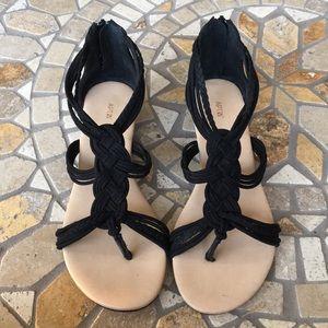 Apt. 9 Black Strappy Sandals